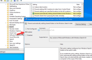 how to prevent windows from automatically adding shared folders to search How to foreclose Windows rationale automatically adding Shared Folders to Search Chippy