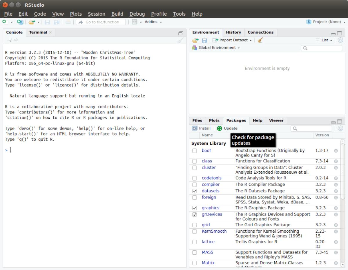 RStudio IDE on Linux