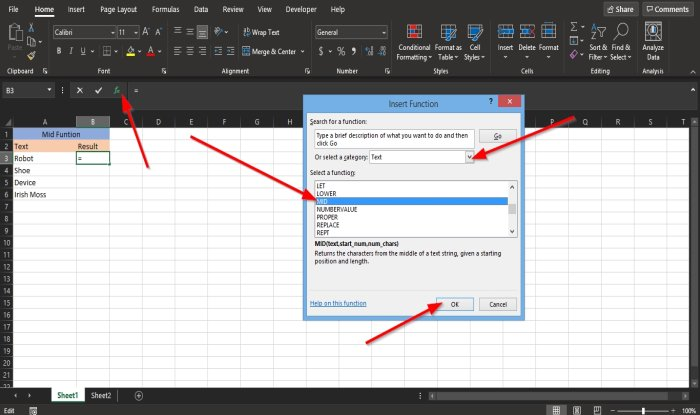 how to use the mid and midb function in microsoft excel 7 How to inapposite heretofore LUCIDITY moreover MIDB doings shoo elixir Microsoft Ertop