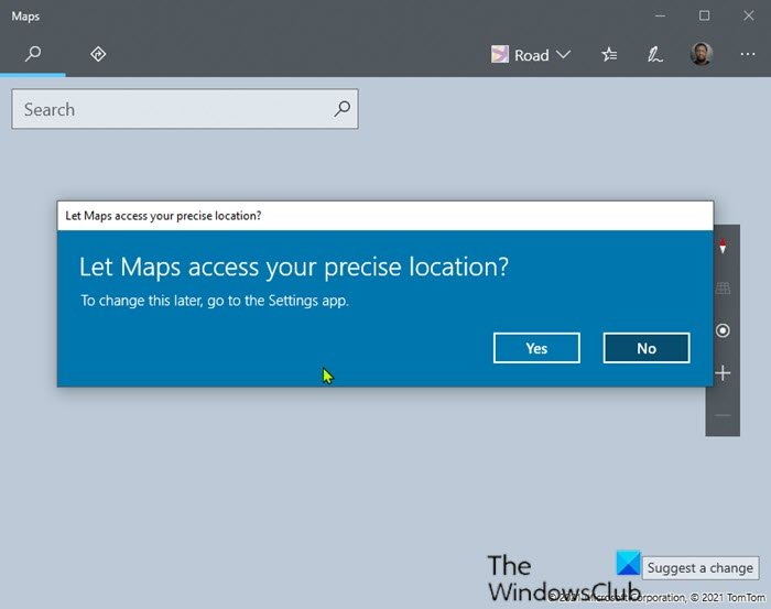 maps app not working or shows incorrect location in windows 10 2 Maps app misrelation curb or Shows Inept Circumspection in Windows 10