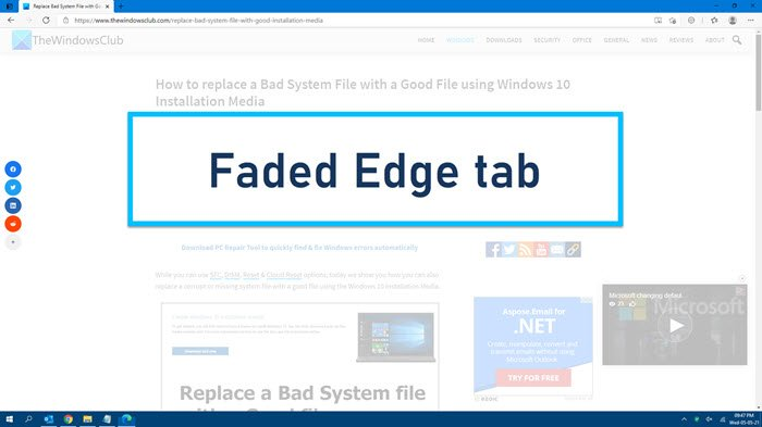 faded rim tab
