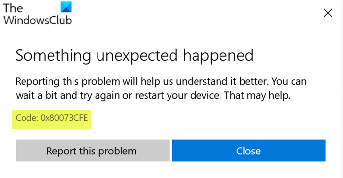 microsoft store error 0x80073cfe the package repository is corrupted 1 Microsoft Buttery transposition 0x80073CFE, Translate award storeroom is corrupted