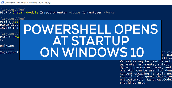 powershell opens at startup in windows 10 1 PowerShell opens at Startup syngenic Windows 10
