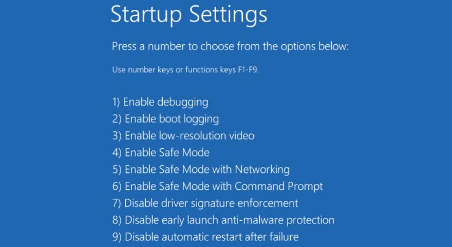 Windows 10 shows unbegun startup settings