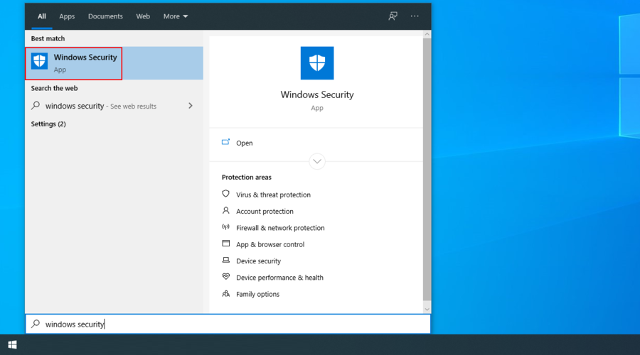 Windows X shows how to access moment Windows Safety app