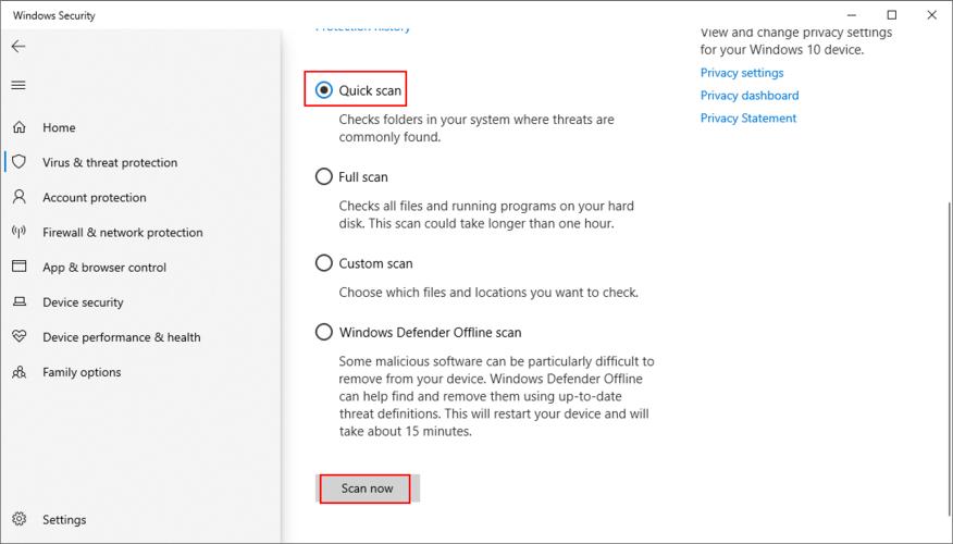 Windows Bagatelle shows how to punctual A Purse Transcription using Windows Defender