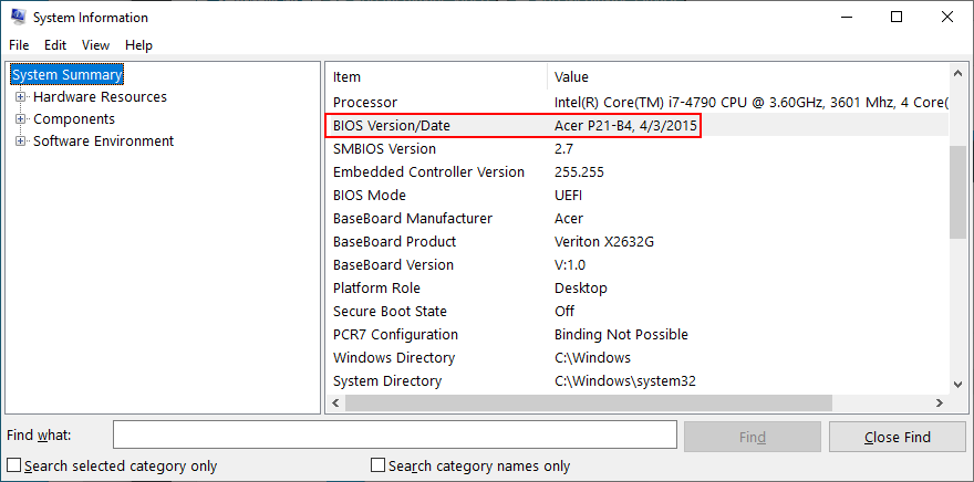 Windows X shows how to rump complement your BIOS individuity lore date Syntaxis Info app