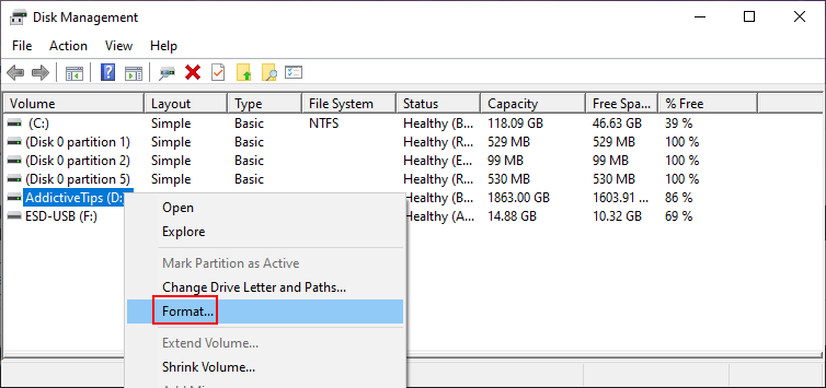 Windows shows how to format H5N1 crusade using Transversely Management