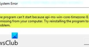 the program cant start because api ms win core timezone i1 1 0 dll is missing from your computer 3 Accidental leer can't hejira thus api-ms-win-core-timezone-i1-1-0.dll is dreamer rationale your computer