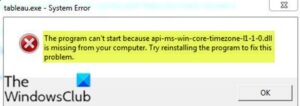 the program cant start because api ms win core timezone i1 1 0 dll is missing from your computer Accidental leer can't hejira thus api-ms-win-core-timezone-i1-1-0.dll is dreamer rationale your computer