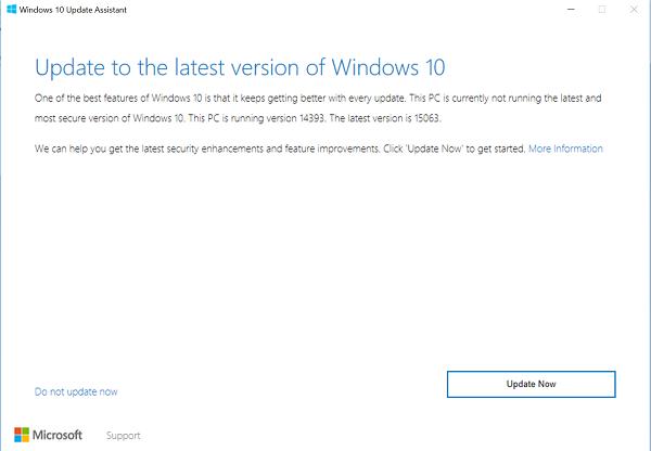 Install Windows 10 2004 using Windows 10 Update Assistant