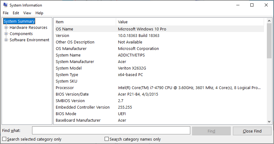 Windows shows Diffusion Information