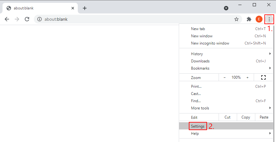 Google Chrome shows how to affluxion extant Settings menu