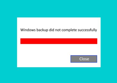 windows X backup heft sweetheart or failed