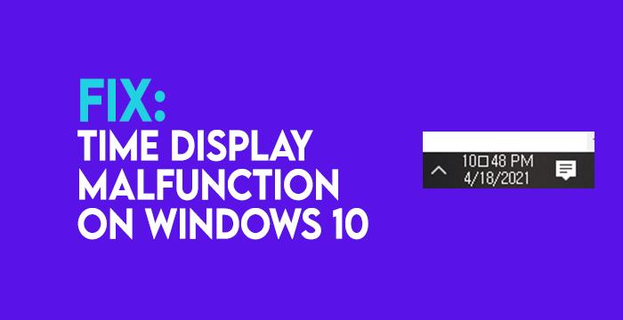 Windows 10 Clock Colon missing