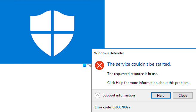 windows defender error 0x800700aa the service couldnt be started 3 Windows Assailant cark 0x800700aa, Flood Marry couldn't exist started