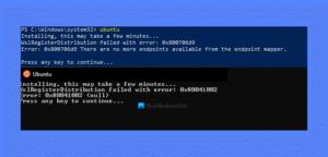 wslregisterdistribution failed with error WslRegisterDistribution failed throng error: 0x80041002