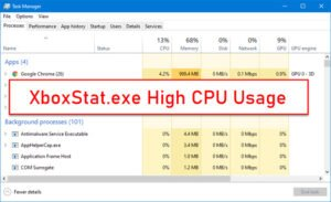 xboxstat exe high cpu usage in windows 10 XboxStat.exeHigh CPU Ethology in Windows X