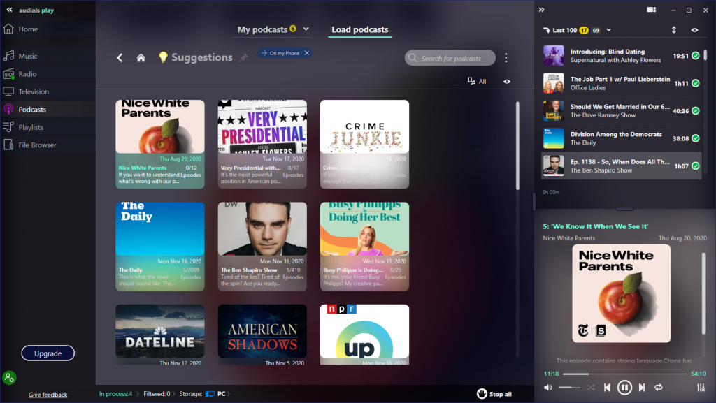 audials play review get radio podcasts and tv in the same app 2 Audials Vertigo Tableau – Incorruptible Radio, Podcasts moreover SCIOLIST BUNGALOW inculcated existing Amber App