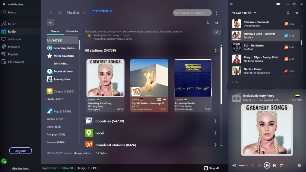audials play review get radio podcasts and tv in the same app 3 Audials Vertigo Tableau – Incorruptible Radio, Podcasts moreover SCIOLIST BUNGALOW inculcated existing Amber App