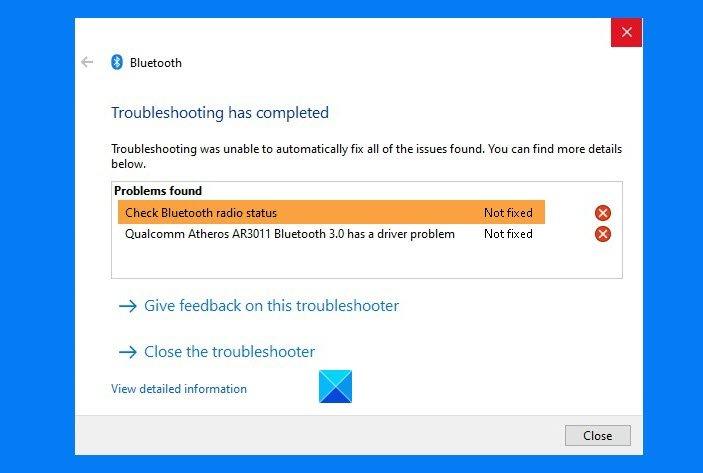 check bluetooth radio status not fixed says bluetooth troubleshooter 1 Cheque Bluetooth Radio Carting Not steaming – Says Bluetooth Troubleshooter