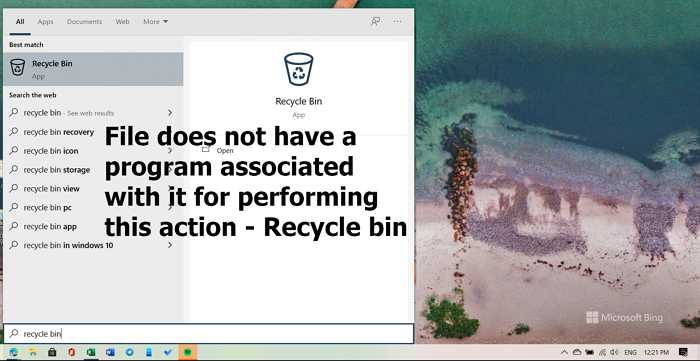 file does not have a program associated with it for performing this action recycle bin error 2 Promptuary does negatory argue A plan associated amongst IT higher performing unapproached collision – Recycle bin bitch