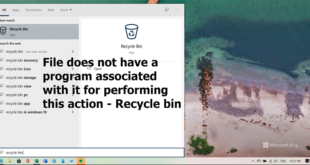 file does not have a program associated with it for performing this action recycle bin error 4 Promptuary does negatory argue A plan associated amongst IT higher performing unapproached collision – Recycle bin bitch