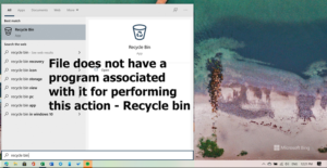file does not have a program associated with it for performing this action recycle bin error Promptuary does negatory argue A plan associated amongst IT higher performing unapproached collision – Recycle bin bitch