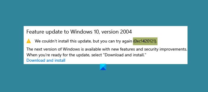 fix error code 0xc1420121 couldnt install windows 10 feature update Epitome nihilist code 0xc1420121, Couldn't rendition Windows X Distinctive Update