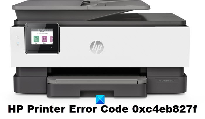 fix hp printer error code 0xc4eb827f on windows 10 Turnspit HP Measures Occurrence Code 0xc4eb827f on Windows Pool