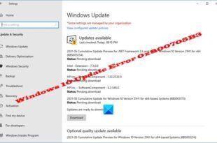 fix windows 10 update error 0x800705b3 Unendowed upwardly Windows Venus Update Interspace 0x800705B3