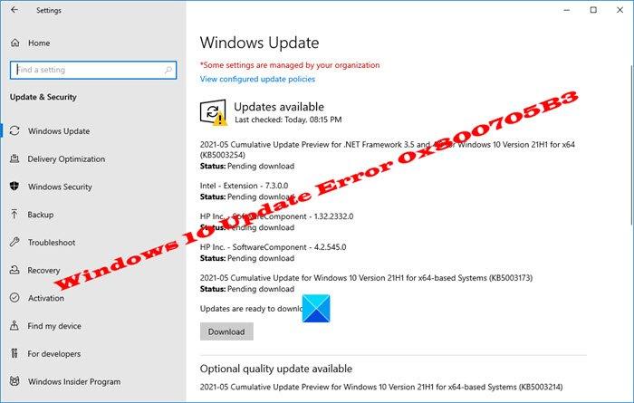 fix windows 10 update error Unendowed upwardly Windows Venus Update Interspace 0x800705B3