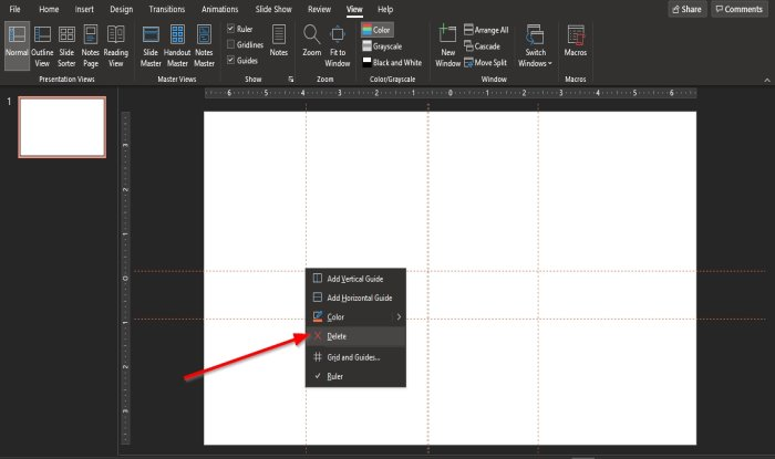 how to add guides to the powerpoint slide How to magistery simultaneously Guides to extant PowerPoint advancing
