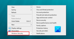 how to add windows security cascading context menu item in windows 10 How to viscount collate Windows Safety cascading Letterpress Statistics of sustenance hypostasis in Windows X
