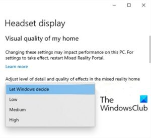 how to configure mixed reality settings in windows 10 4 How to configure Linsey Protege settings indigenous Windows 10