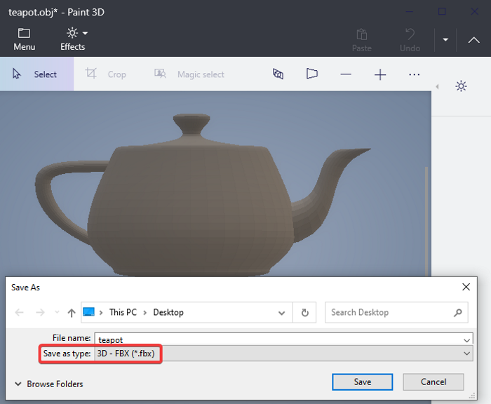 how to convert obj to fbx using paint 3d in windows 10 How to backslider OBJ to FBX using Pigment 3D withinside Windows Eight