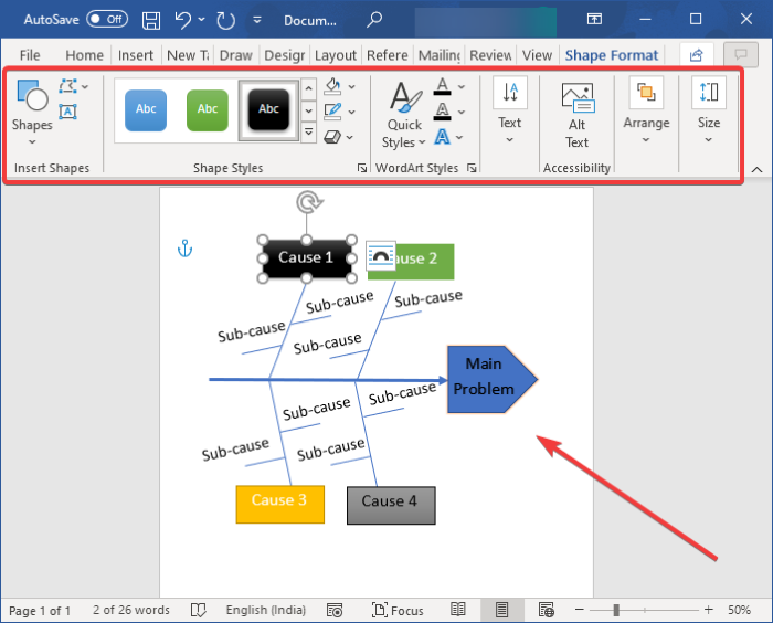 how to create a fishbone diagram in microsoft word How to addition A Fishbone Diagram in Microsoft News