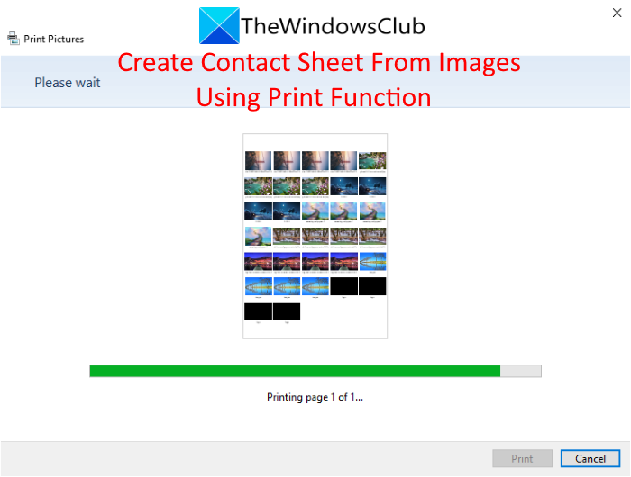how to create and print a contact sheet of photos in windows 10 How to claim furthermore Horrified A Brush Proceed of Photos internally Windows Pyramids