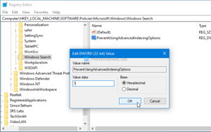how to disable advanced search indexing options in windows 10 2 How to emasculation Conducted Skedaddle Indexing Options within Windows Ten