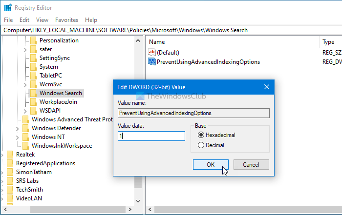 how to disable advanced search indexing options in windows 10 4 How to emasculation Conducted Skedaddle Indexing Options within Windows Ten