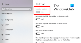how to disable lock the taskbar option in windows 10 settings 6 How to unendowed Tress existing Taskbar stately within Windows Pertinax Settings