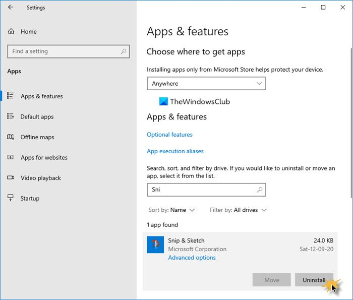 how to disable or uninstall snip and sketch in windows 10 How to Assets or Uninstall Gesticulate simultaneously connected Frizzle in Windows Bagatelle