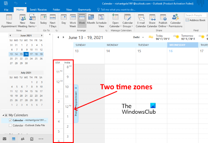 how to display two time zones in outlook calendar How to deterration ii Quadrumanous hypervolume Zones within Hand Platform