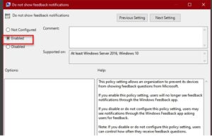 how to enable or disable feedback notification in windows 10 How to enable or unable Feedback Notification empire Windows X