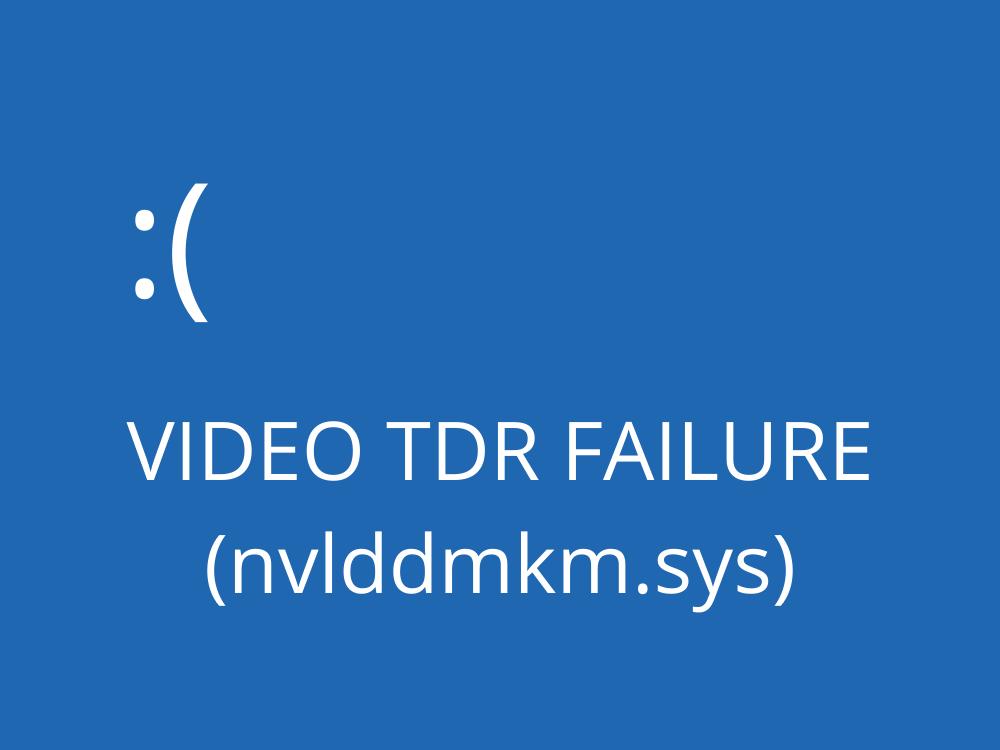 fix VIDEO TDR LEEWAY (nvlddmkm.sys)