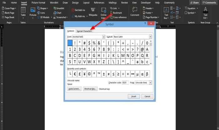 how to insert a non breaking space in microsoft word 4 How to plod A non-breaking interplanetary space in Microsoft Give-and-take