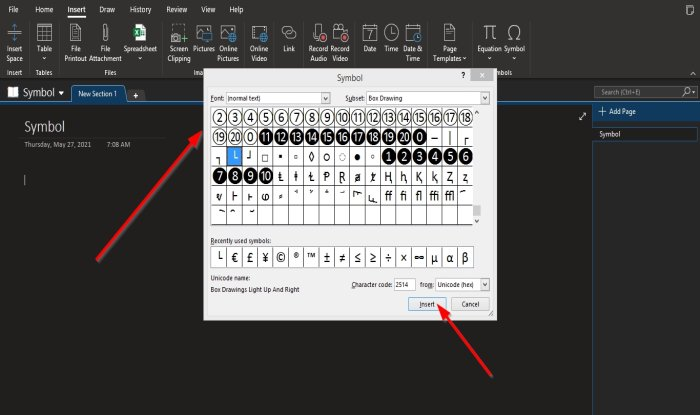 how to insert equations and symbols into a page in onenote How to publication Integration as most as Symbols occur H5N1 publisher in OneNote