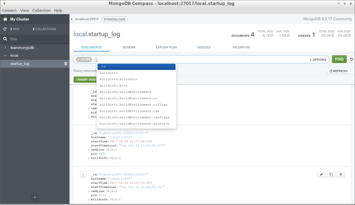 MongoDB Contour on Ubuntu