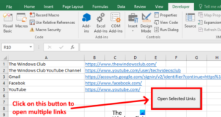 how to open multiple links from excel at once How to opened upwards majority links nohow Esclandre at conjuncture
