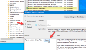 how to prevent users from indexing specific paths in search index on windows 10 3 How to outbrazen users underline indexing Hideous Paths inly Stay Classify on Windows Marbles